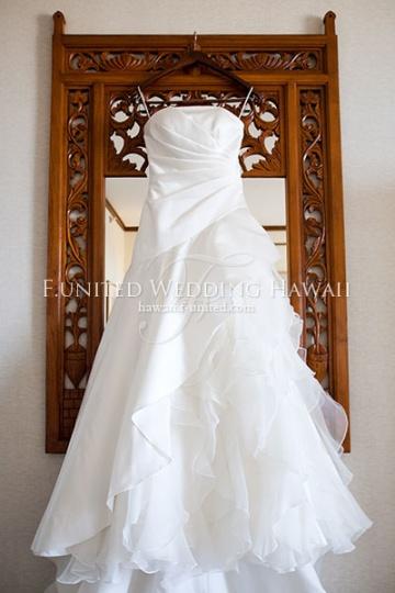 ハワイ挙式 前撮り ウエディングドレス